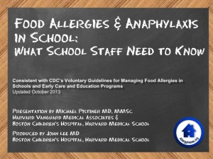 Staff Training: Food Allergies & Anaphylaxis in School