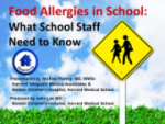 Staff Training: Food Allergies in School – What School Staff Need to Know